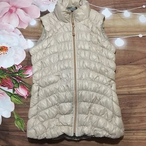 Athleta Downalicious tan down puffer vest